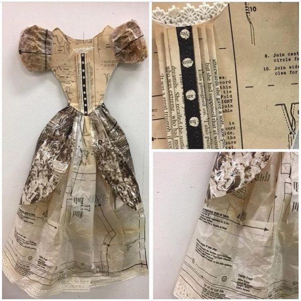 papttern paper dress